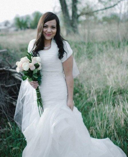 Bride Milady in Affordable custom-made wedding dress
