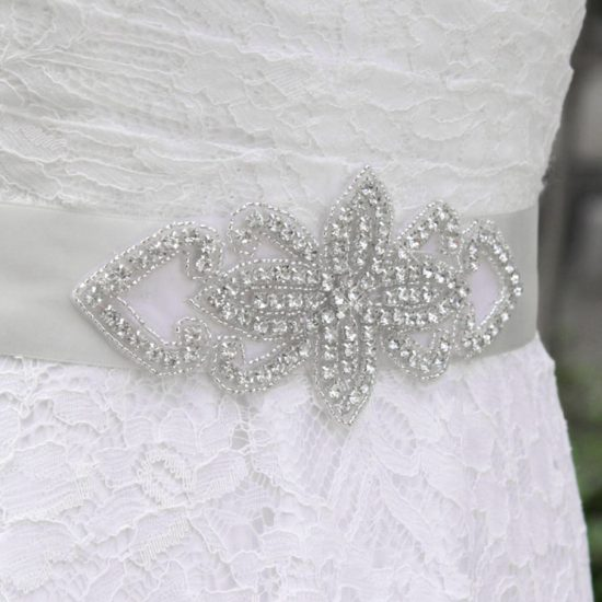 Affordable Rhinestone Wedding dress Sash belt Accessory