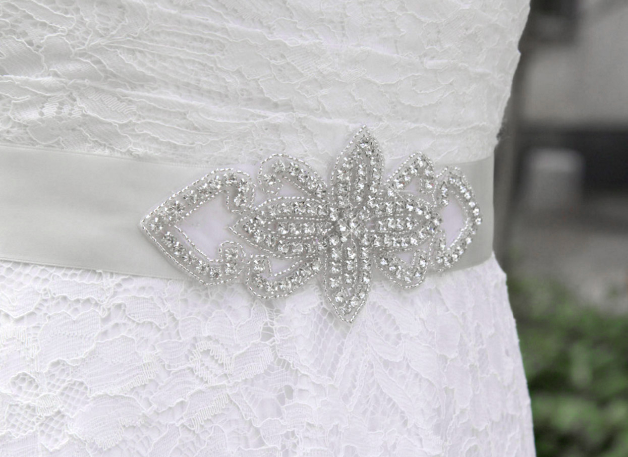 Rhinestone Wedding Dress Sash Belt | My Amazing Wedding Dress