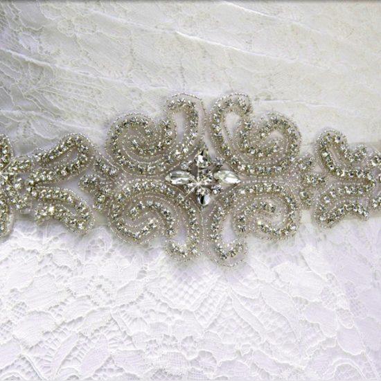Rhinestone Wedding gown Sash belt