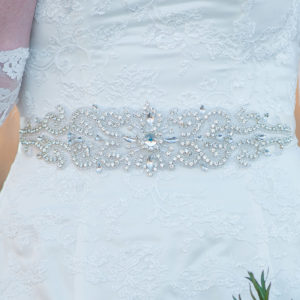 Affordable Rhinestone Wedding gown Sash belt