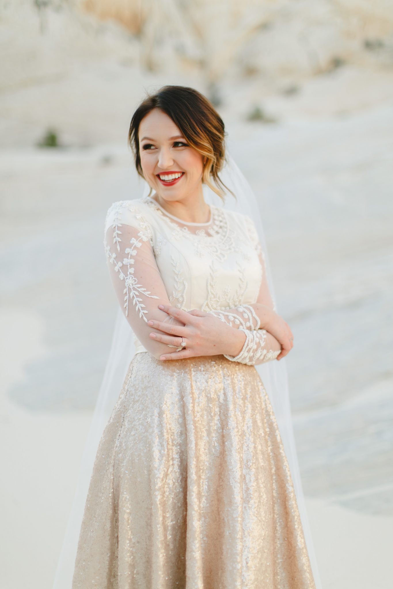 Modest Chloe Wedding Dress Custom Designed